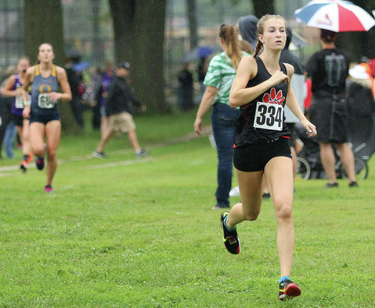 Maya Lueking took 36th place at the Peoria High Invite on Saturday to help the Tigers to a third-place finish as a team.