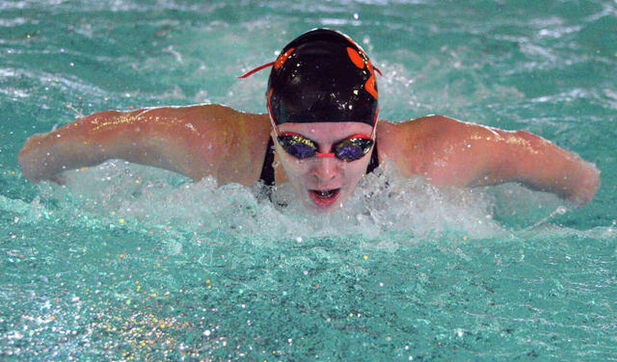 Edwardsville's Ava Whittaker earned wins in the 200-yard individual medley and the 100-yard butterfly on Saturday at Eisenhower Pool in Springfield.