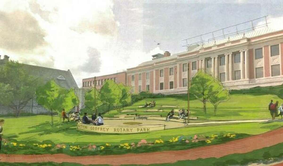 Ground will be broken Monday, Oct. 11, for the new Alton-Godfrey Rotary Park at the corner of Easton and 3rd streets across from Alton City Hall. The park will include a plaza and amphitheater-style limestone seating for about 200 people.