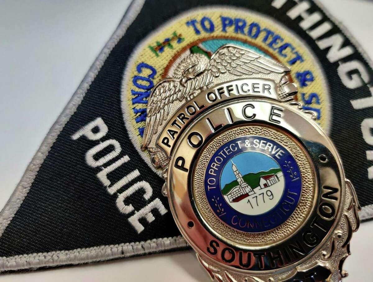 A file photo of a Southington, Conn., police badge.