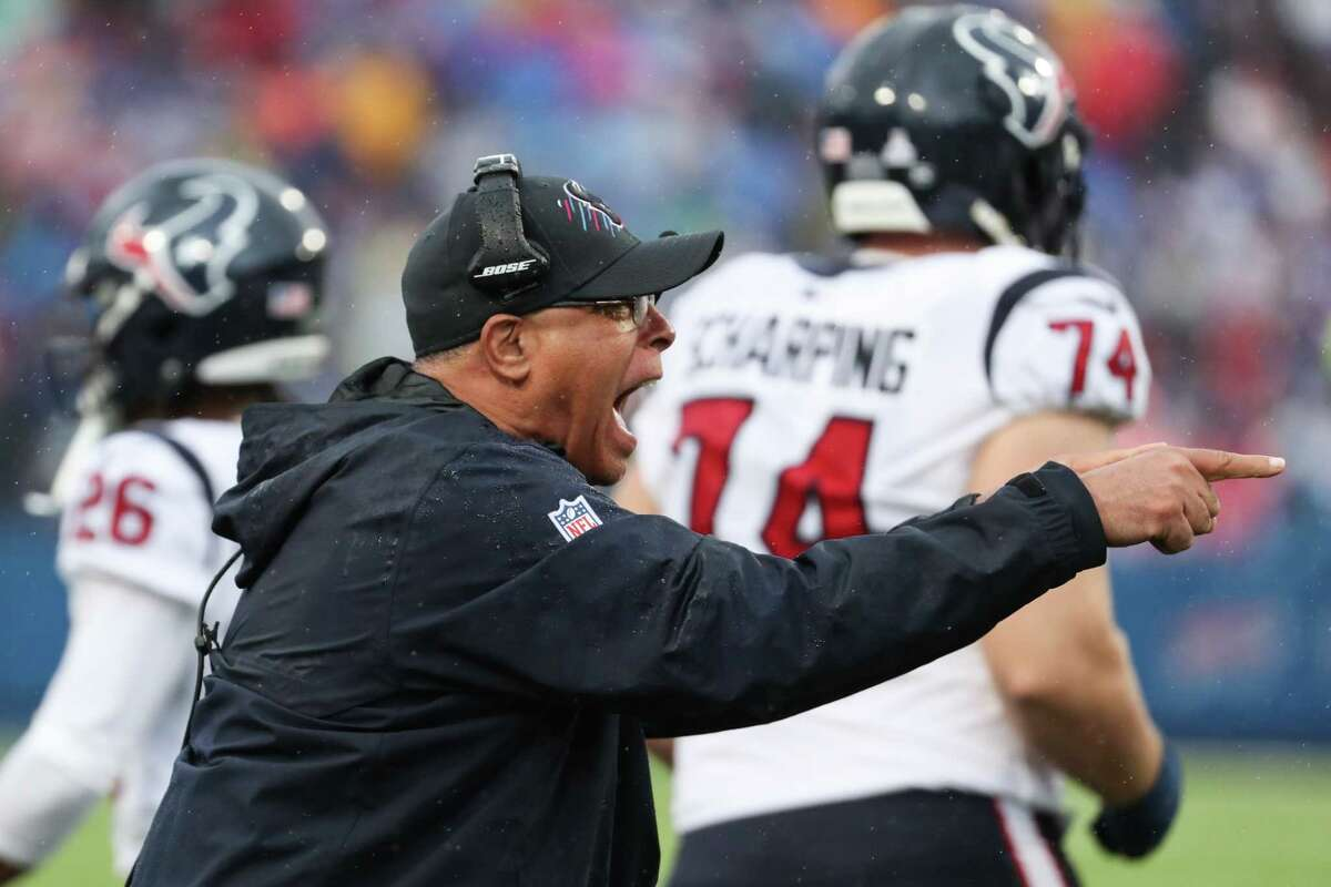Texans coach David Culley's gamble to go for it deep in Bills territory on his team's second possession didn't work out.