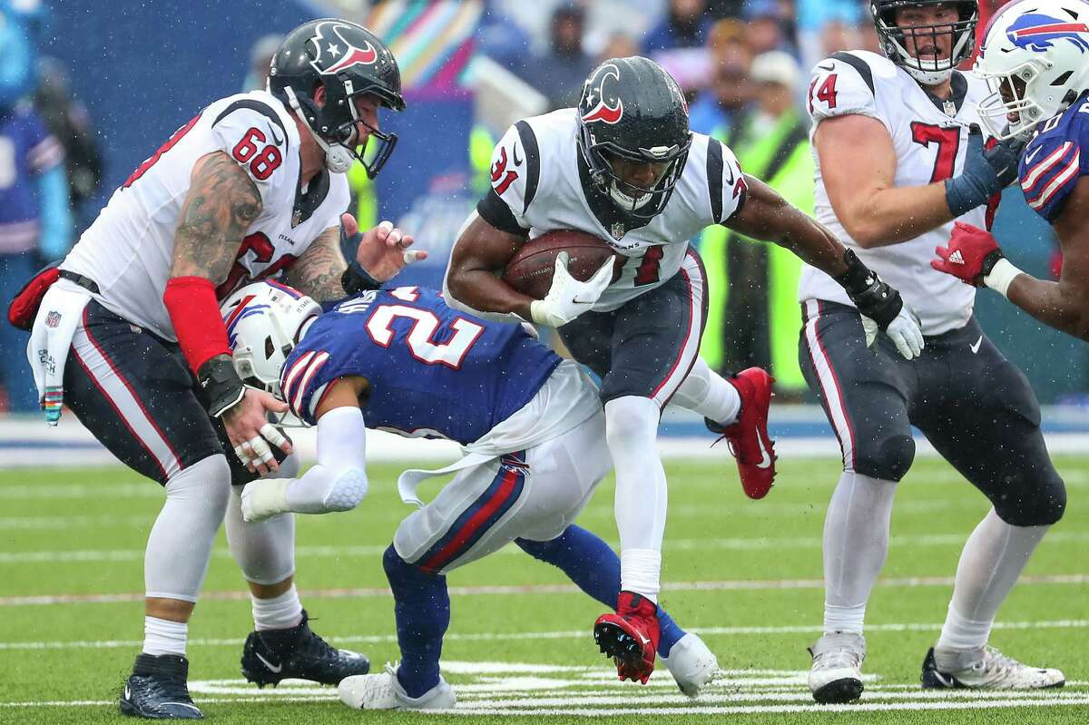 The Texans will look for David Johnson and their other running backs to get going against New England after an absymal stretch of late.