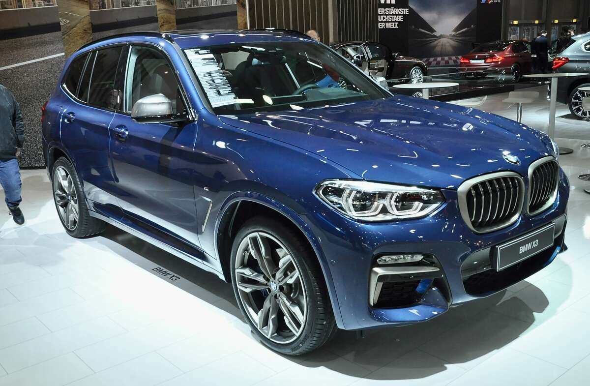 This BMW X3 is displayed during the Vienna Autoshow, as part of Vienna Holiday Fair on January 10, 2018 in Vienna, Austria.(Photo by Manfred Schmid/Getty Images)