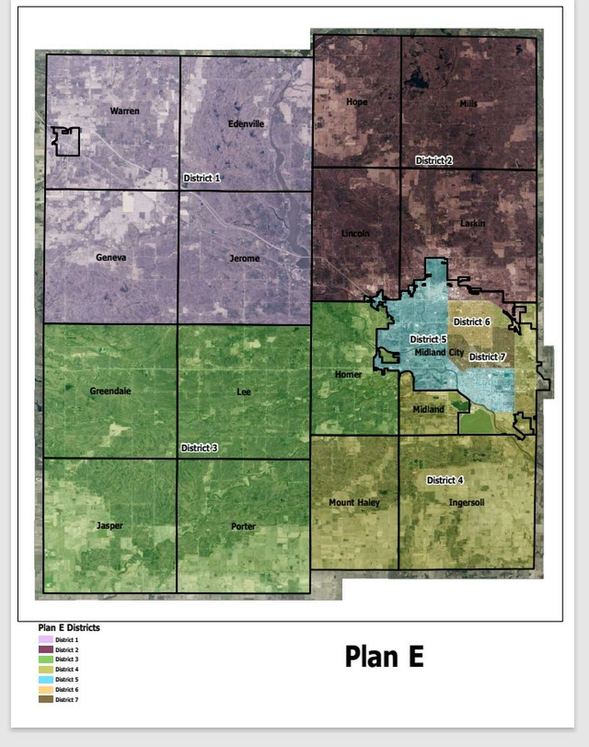 This apportionment proposal for Midland County's seven commissioner districts was presented at the Apportionment Committee's Sept. 29 meeting. The committee is scheduled to vote Oct. 6 between this proposal and one other proposal.