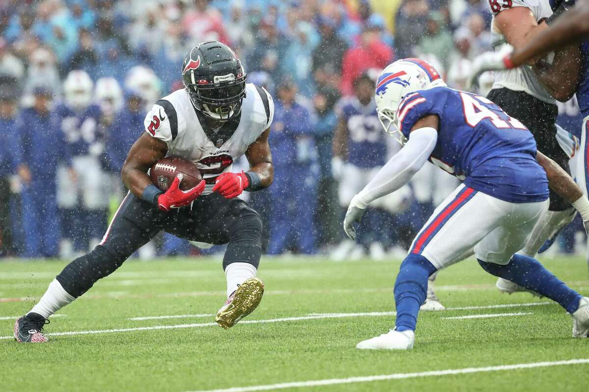 Mark Ingram and Texans' offense couldn't get untracked, especially on the ground on first and second downs.