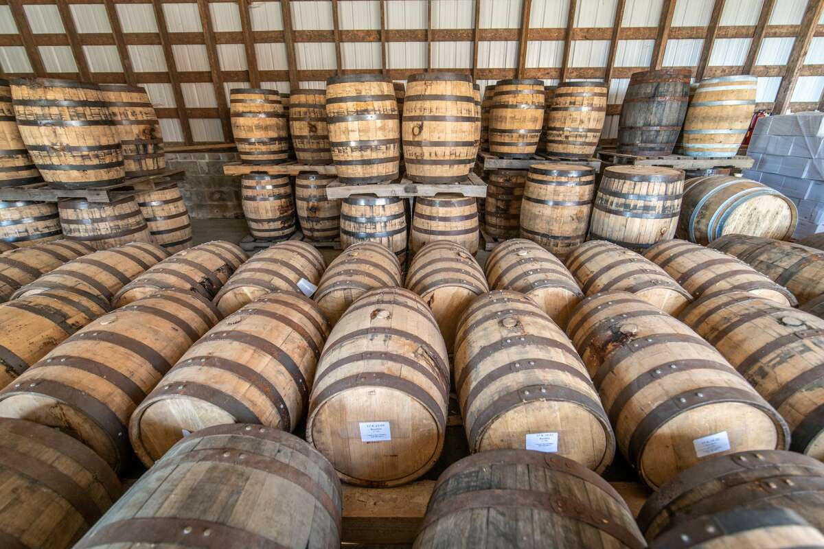 FILE - Barrels at Tobacco Barn Distillery in Hollywood, MD. (Photo by: Edwin Remsberg/VW PICS/Universal Images Group via Getty Images)