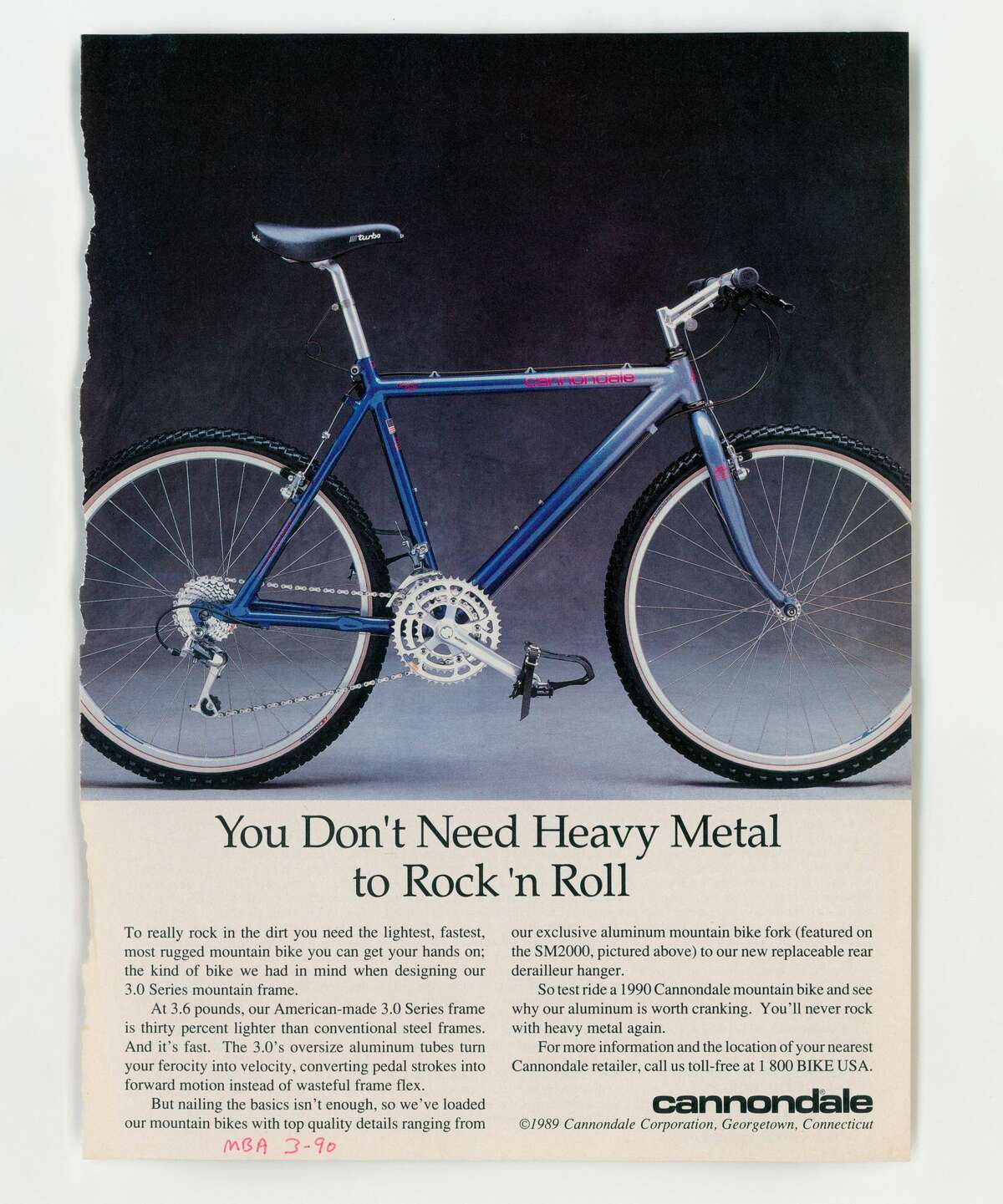 A Cannondale advertisement from 1990.