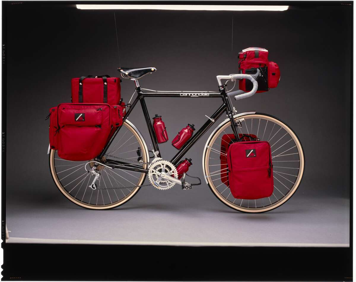 A Cannondale touring bike with panniers from 1988.