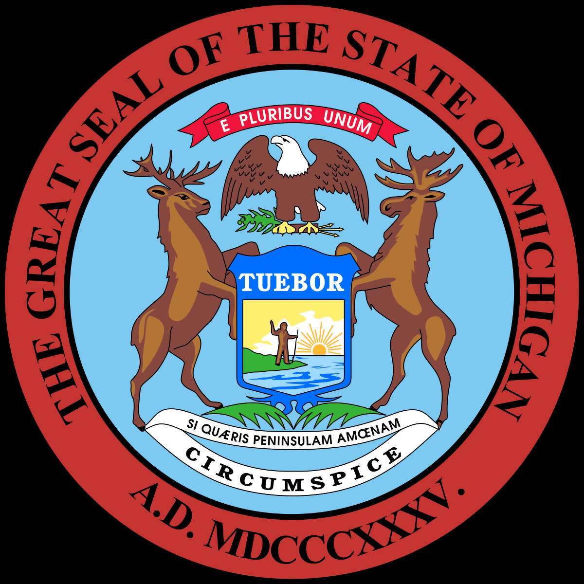 The state seal of Michigan