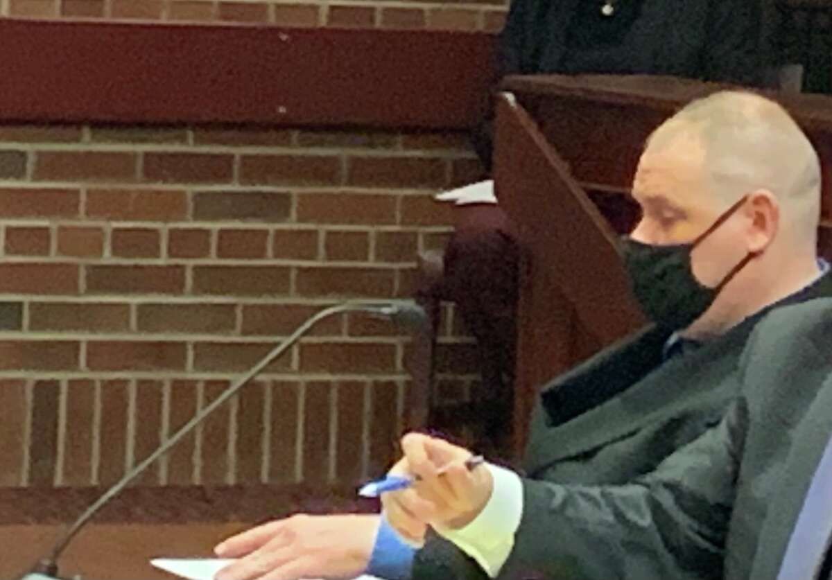 Ex-Saratoga County sheriff's deputy Steven Willetts awaits sentencing in Saratoga County Court on Monday, Oct. 4, 2021.
