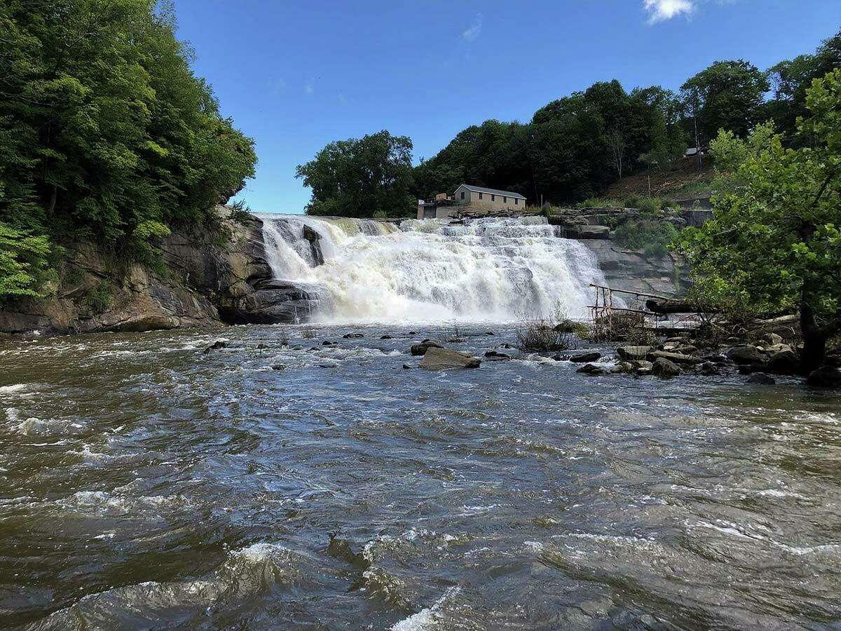 The Great Falls along the Housatonic River.
