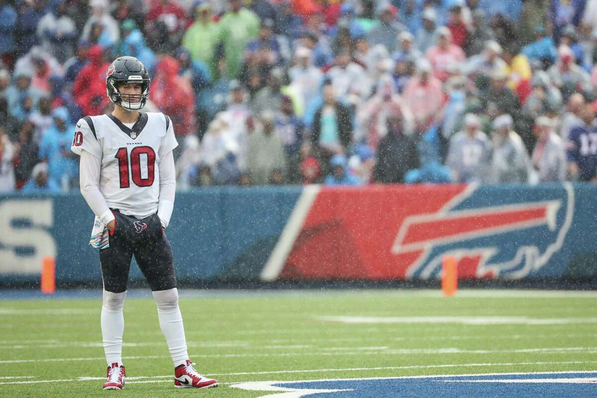 Rookie QB Davis Mills and the Texans were no match for Buffalo on Sunday and face the Patriots next.