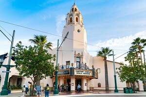 A view of the Carthay Circle Restaurant, a replica of L.A.'s demolished Carthay Circle Theatre, on Buena Vista Street at Disney's California Adventure Park in November 2020.