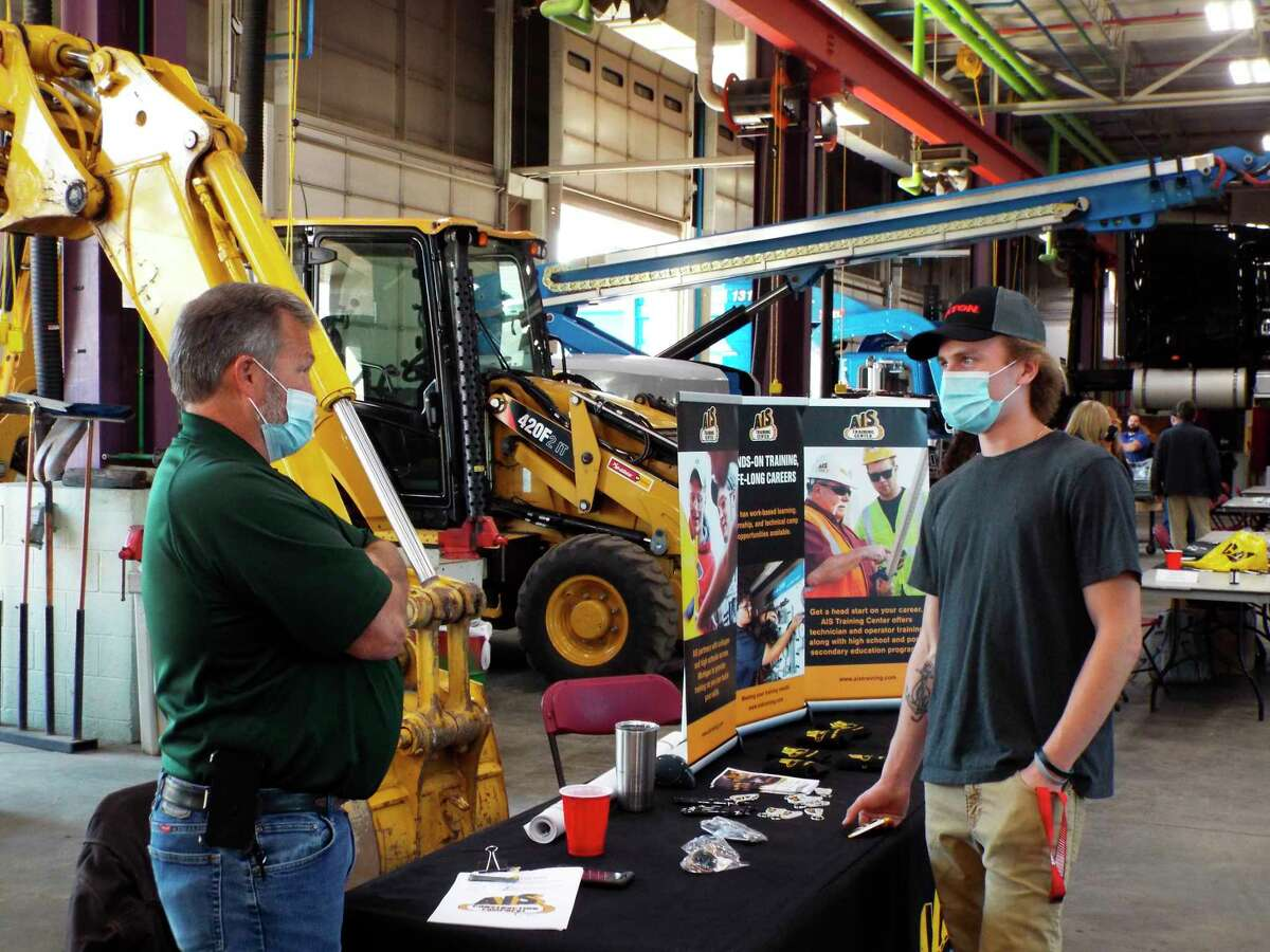 """Ferris State University'sCollege of Engineering Technologyhosted its""""Diesel Days"""" event whichoffered high school, vocational school and community college students a closer look at educational options and career paths in the rapidly growing heavy equipment field. (Courtesy photo)"""