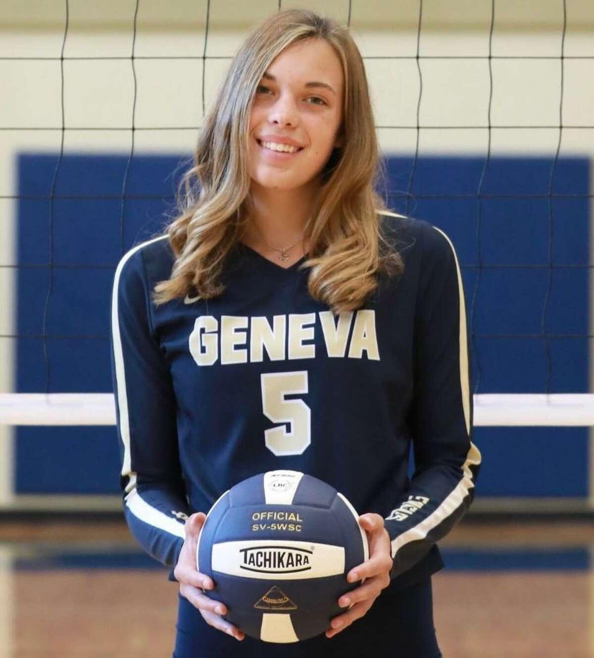 Karynn Garrow is a junior outside hitter for Boerne Geneva.