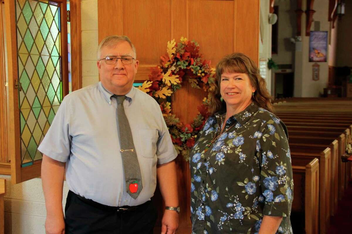 Jim and Connie Bunke retired from teaching at Christ the King school in Sebewaing this past summer, with Jim spending 43 years there and Connie 28. The two still substitute teach at the school and are involved with the Immanuel Lutheran Church that supports the school. (Robert Creenan/Huron Daily Tribune)