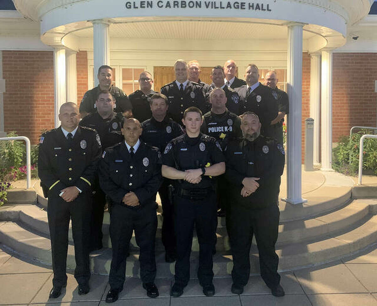 Zachary Walters, front row, right center, is the village's newest police officer.