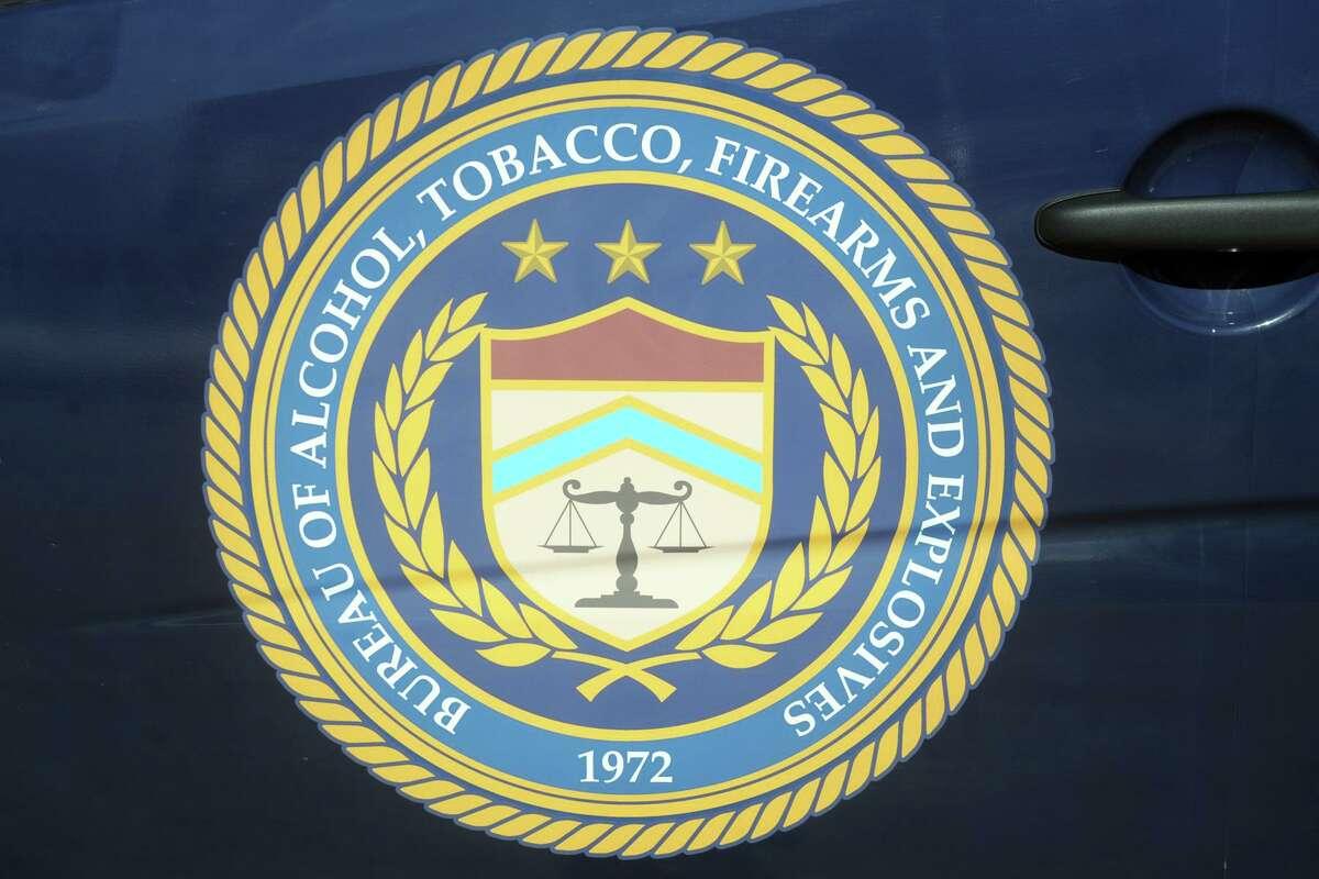 The Bureau of Alcohol, Tobacco, Firearms, and Explosives (ATF) logo, Feb. 24, 2021.