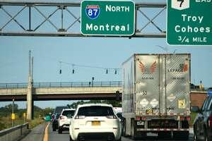 Traffic on I-87 in Latham headed north towards Canada. (Lori Van Buren/Times Union)