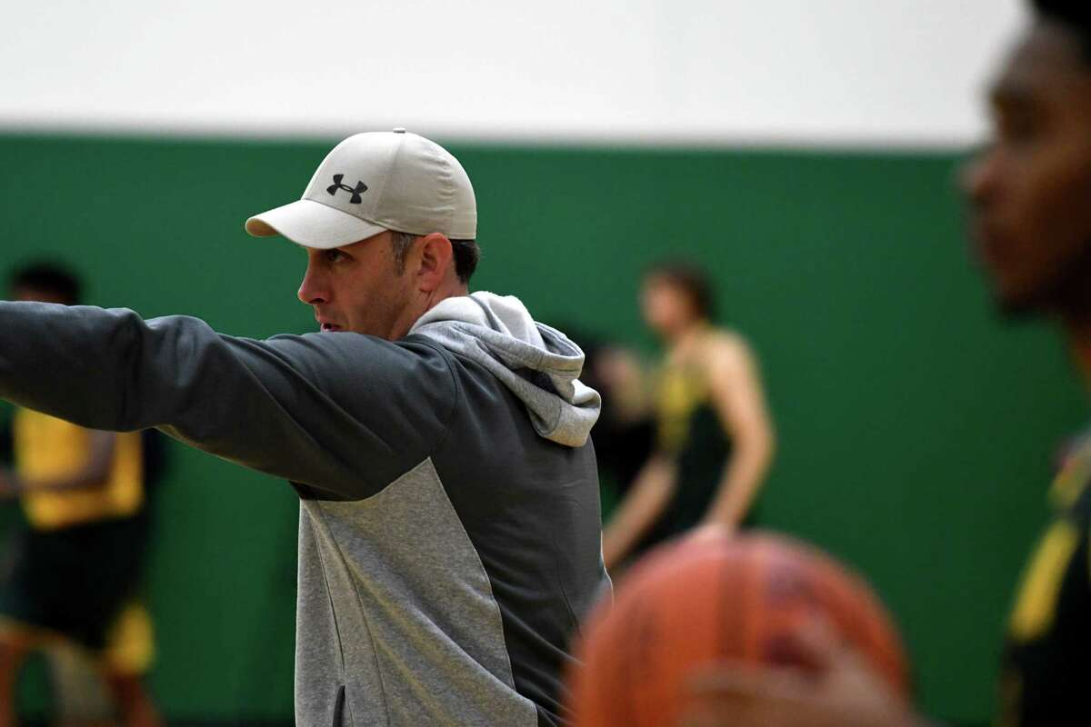 "Siena men's basketball head coach Carmen Maciariello said using live video on the bench ""should be a good teaching tool."" (Will Waldron/Times Union)"