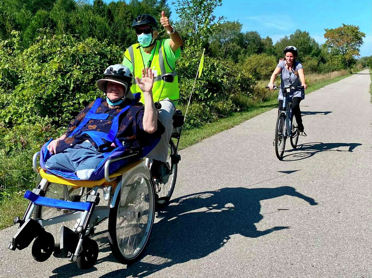 Joy2Ride is back at it and giving people with mobility challenges a chance to get outside and on the scenic Betsie Valley Trail. (Courtesy Photo)