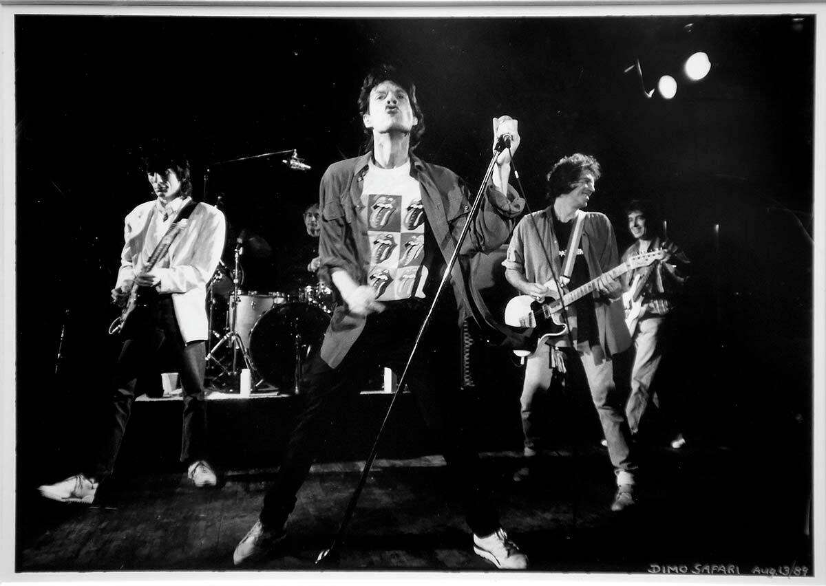 A Dimo Safari photograph of the Rolling Stones, which performed at Toad's Place in 1989, hangs on one wall of the club as a tribute to the legendary concert.