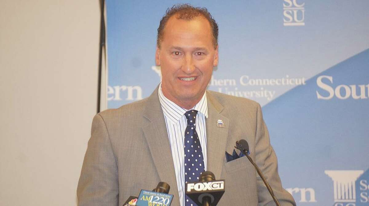 Former Southern Connecticut State athletic director Jay Moran, now vice president at Bridgeport.