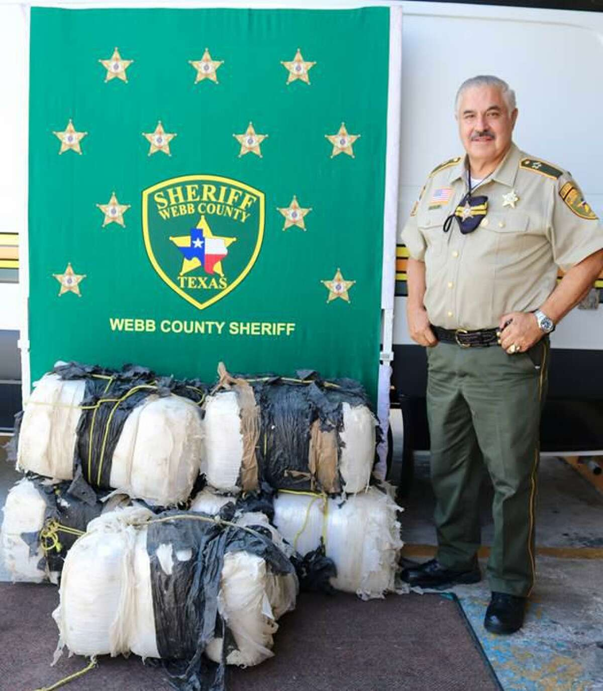 Sheriff Martin Cuellar said his deputies seized more than 360 pounds of marijuana following a pursuit. The contraband had an estimated street value of more than $100,000.