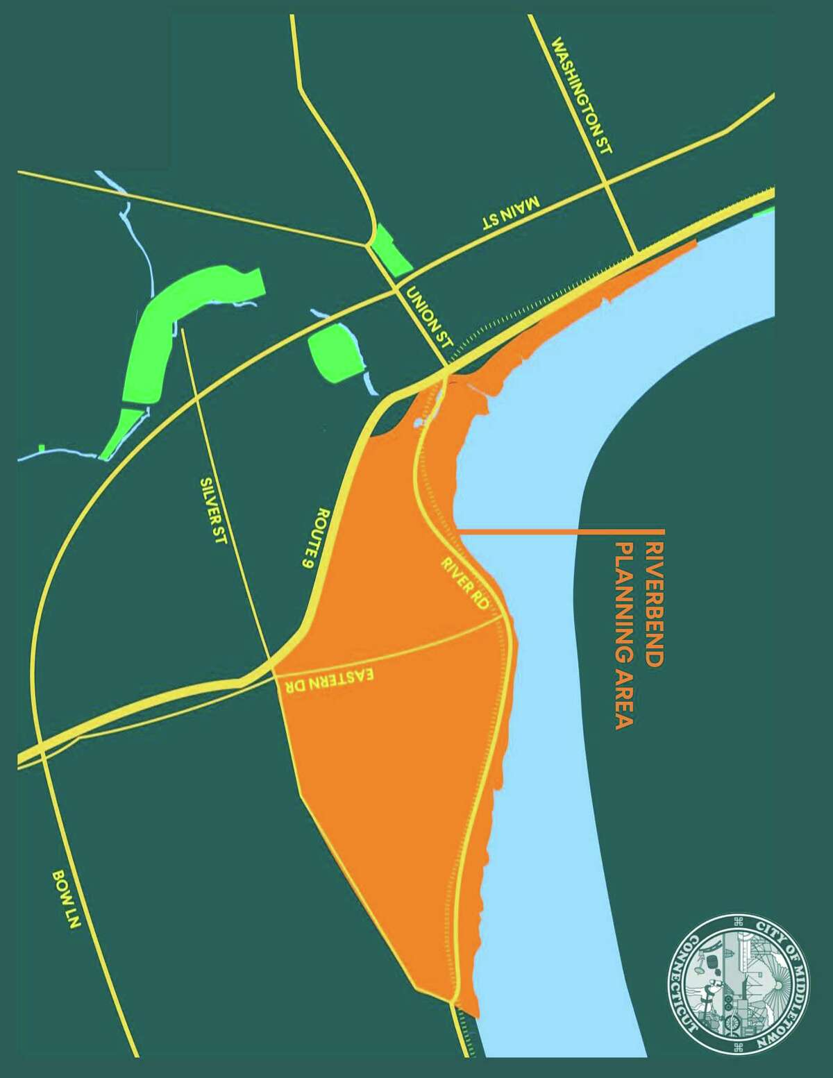 """The city of Middletown will be hosting an online visioning workshop, """"Return to the Riverbend: Planning Our Future Together"""" for the revitalization of the Connecticut Riverfront Oct. 12. The master plan was created by Cooper Robertson."""