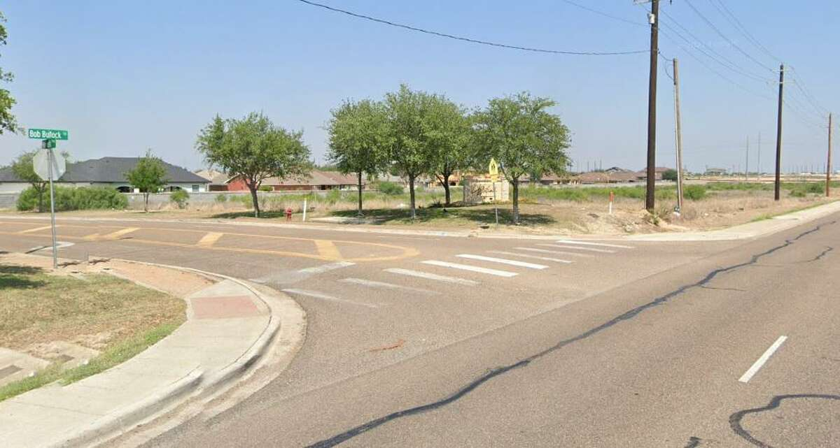Pictured is the intersection of Bob Bullock Loop and Winfield Parkway. A motorcycle rider was injured in a crash here Monday and taken to the hospital in serious condition.
