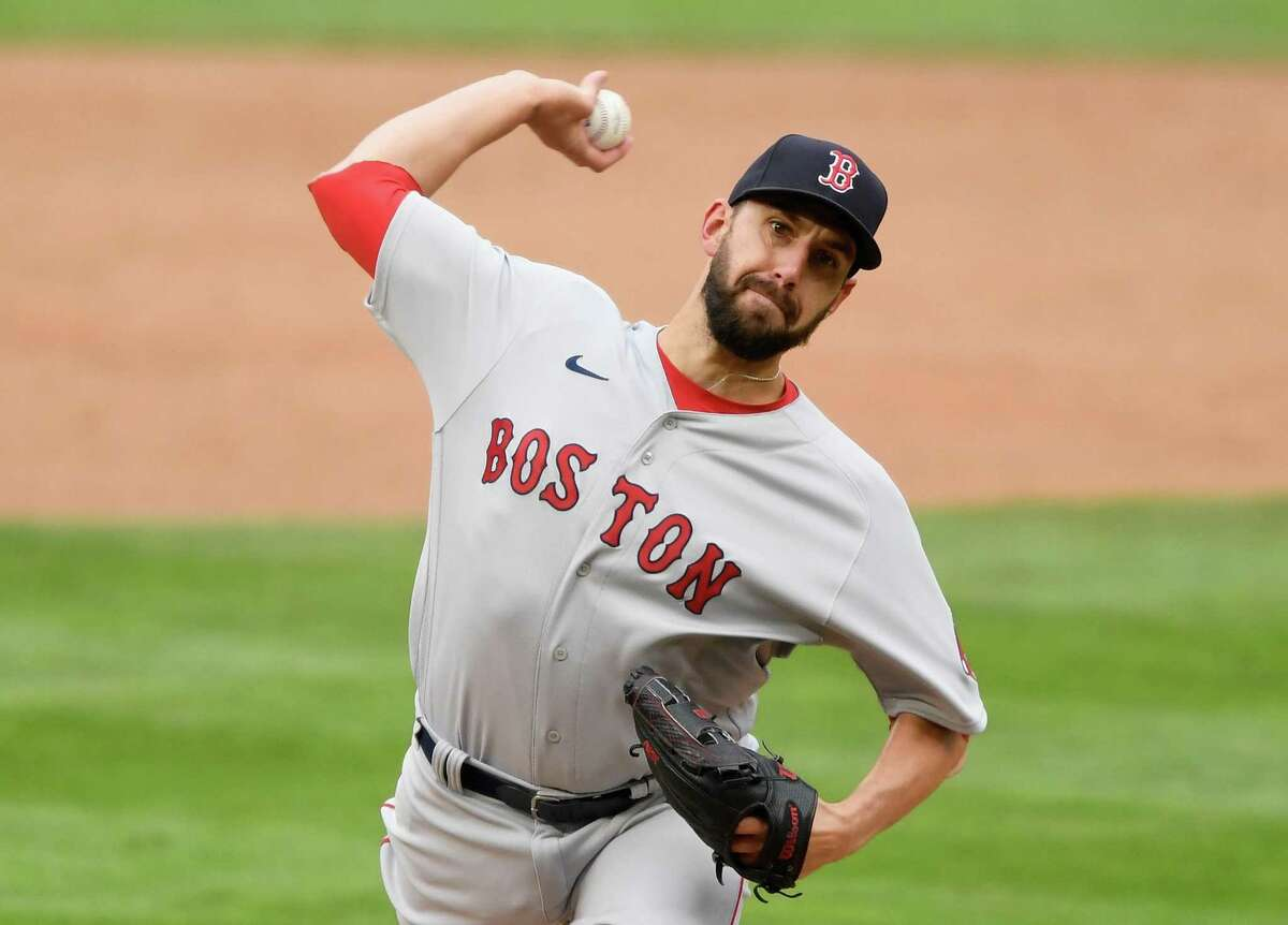 Matt Barnes of the Boston Red Sox delivers a pitch against the Minnesota Twins.