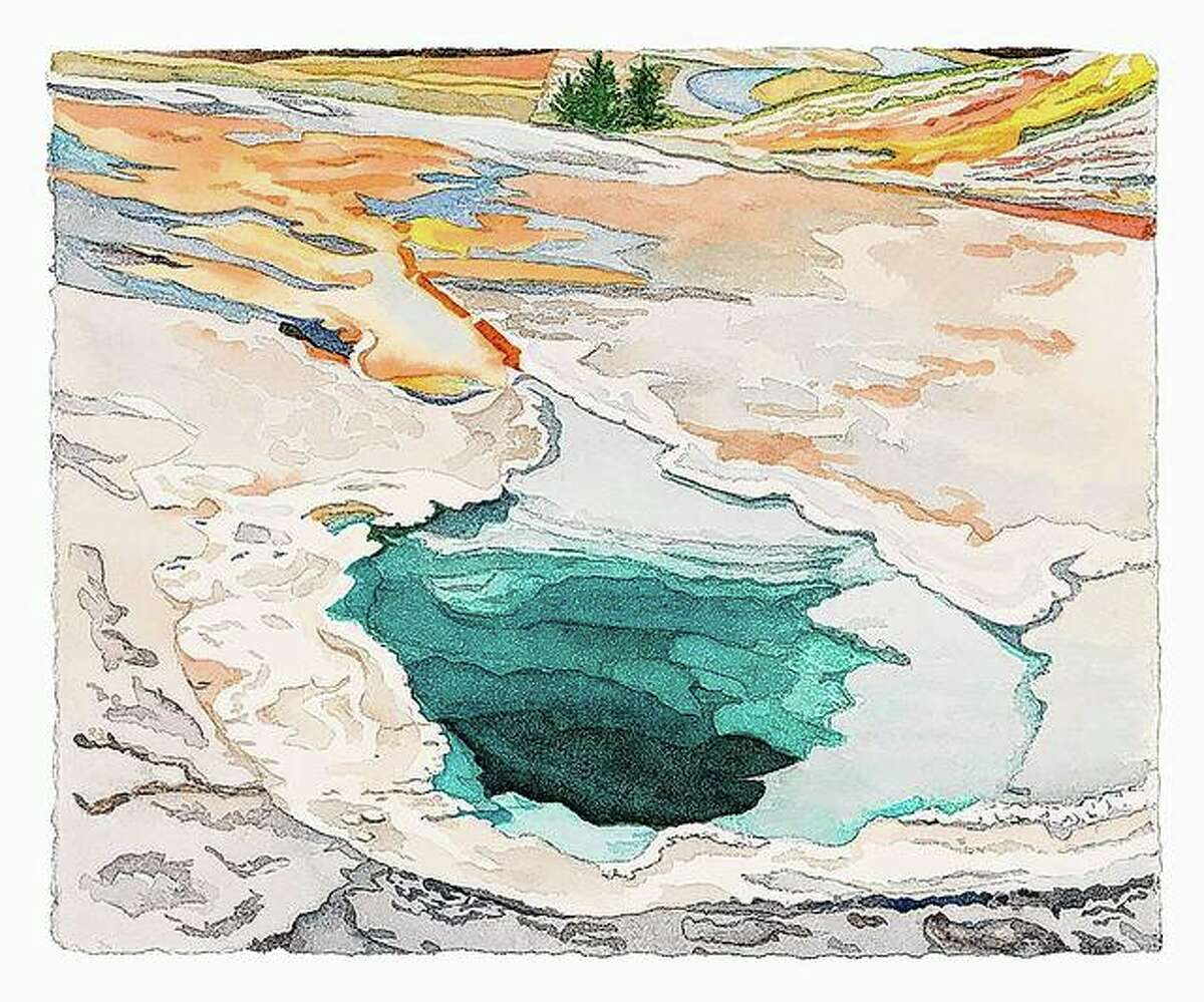 """""""Cistern"""" is a smaller piece by Shadur that also is based on Yellowstone National Park."""