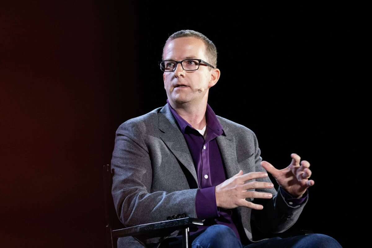 Mike Schroepfer, chief technology officer of Facebook, speaks during the Wall Street Journal Tech Live global technology conference in Laguna Beach, Calif., on Oct. 21, 2019.