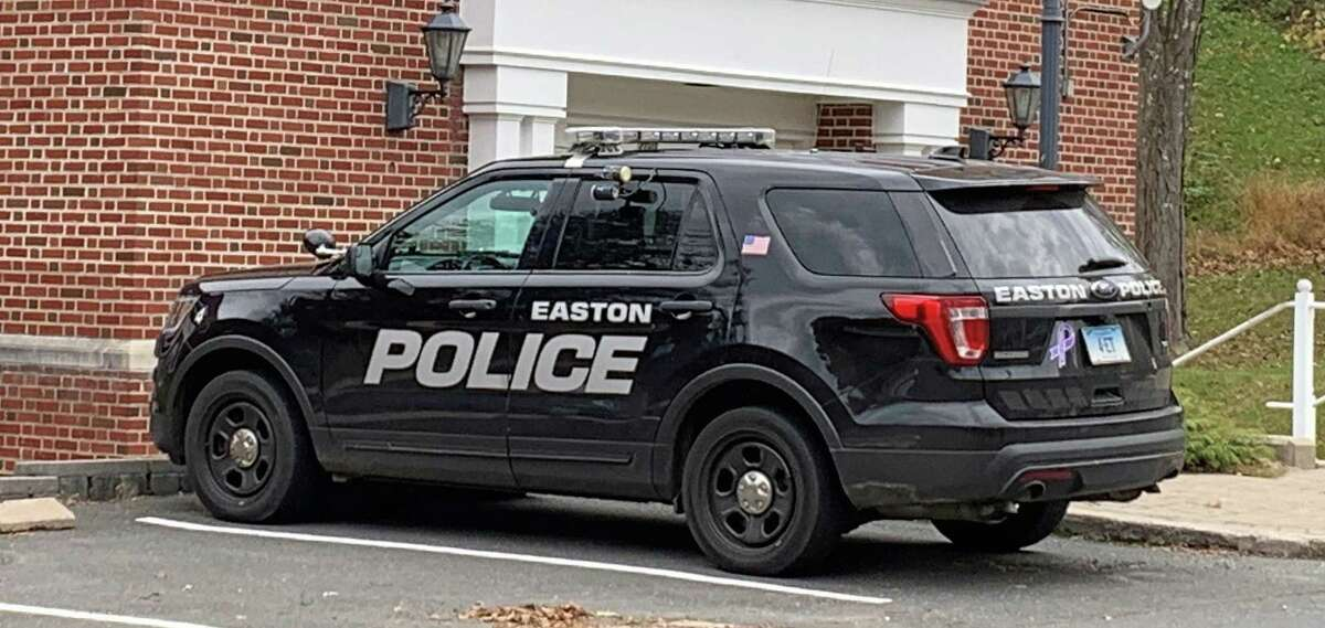 Officer Anthony Telesco received a Meritorious Service Award on Sept. 29, 2021, for his rescue of a person and their dog on Dec. 18, 2020, in Easton, Conn.