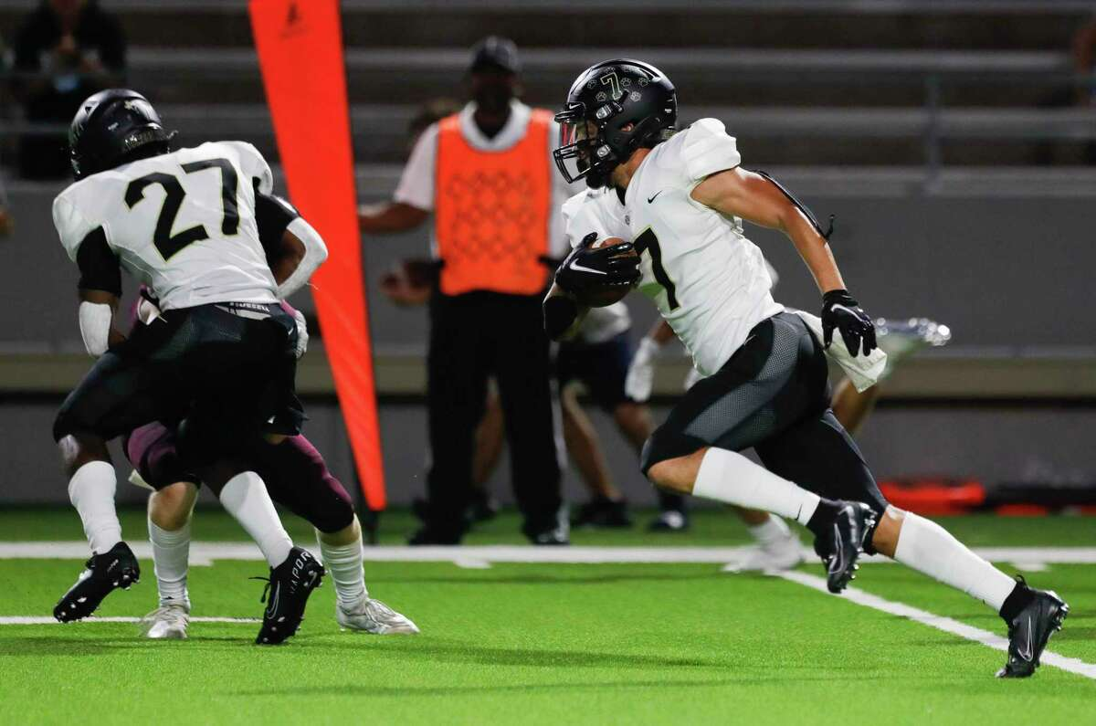 Cy Park shutout Cy Lakes 56-0 in District 16-6A to remain unbeaten overall on Friday night, Sept. 30, at Cy-Fair FCU Stadium.