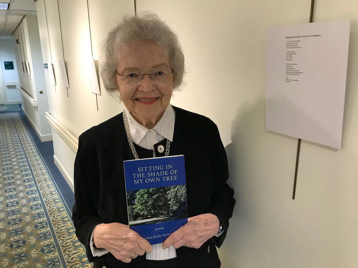 """Marylou Kelly Streznewski published her first book at age 65 after it was rejected 72 times by publishers. She has also published several poetry collections, including her latest, """"Sitting in the Shade of My Own Tree."""" (Paul Grondahl / Times Union)"""