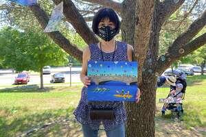 Darien Nobu Miki's painting shows a diversity scene.