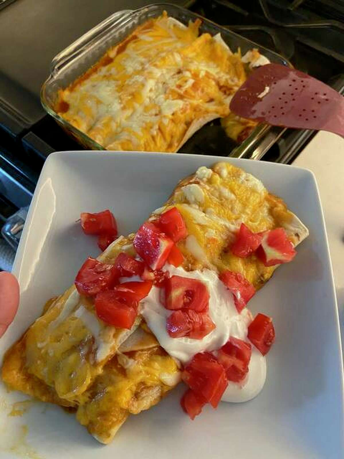 Tex-Mex Enchiladas make for a quick meal during the weekday.