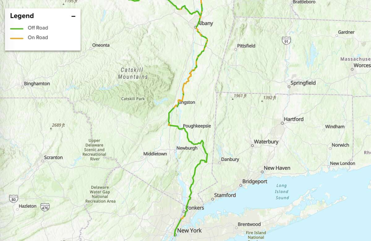 Biking 200 miles from Albany to New York, or vice versa, is an achievable goal for the weekend.