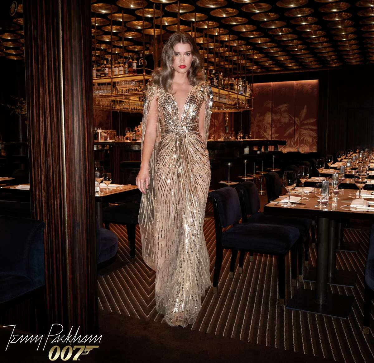 Jenny Packham collaborates with Eon Productions on at a collection of Bond girl evening wear.