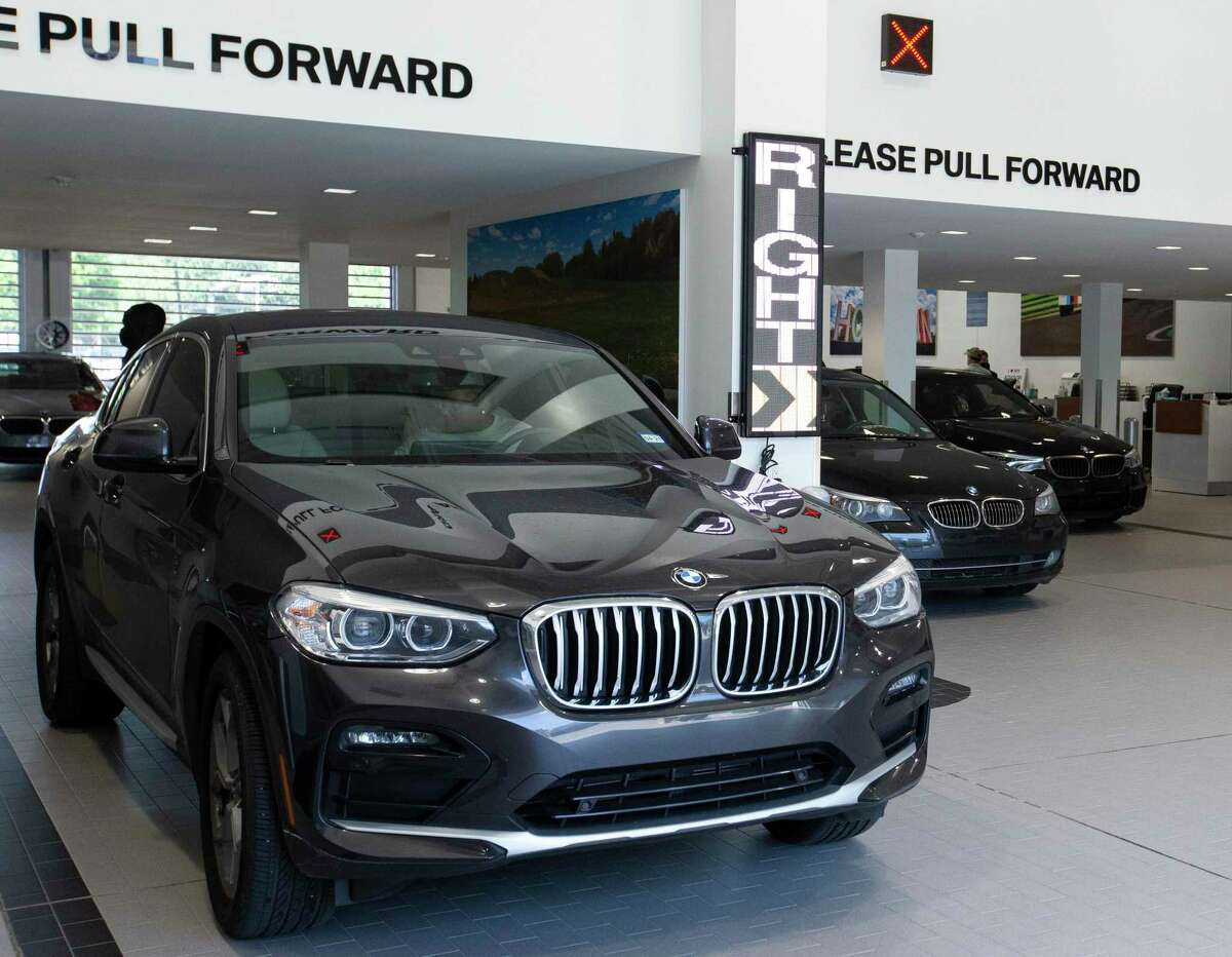 The newly renovated Advantage BMW Midtown service drive, which they moved in last July, is photographed Wednesday, June 2, 2021, in Houston. Group 1 Automotive landed among the top of Houston's most profitable companies last year.