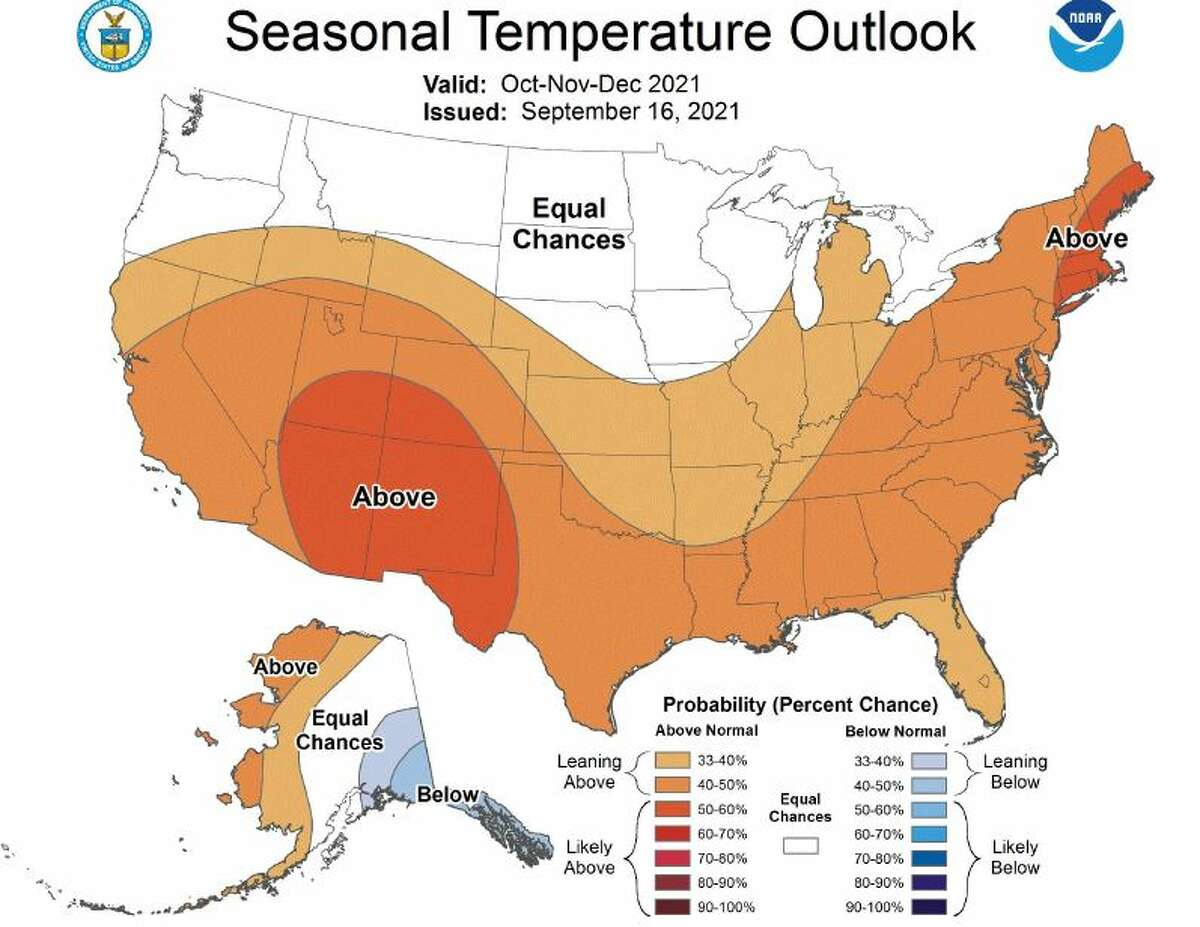 Seasonal temperature outlook.