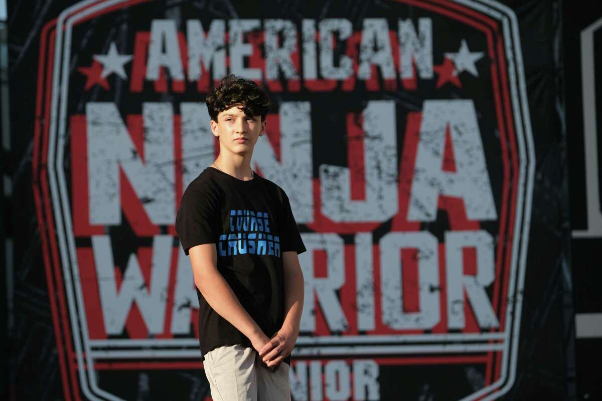 Milford teen Collin Cella competing in this year's American Ninja Warrior Junior. He appeared in the Sept. 30 edition of the competition on Peacock.
