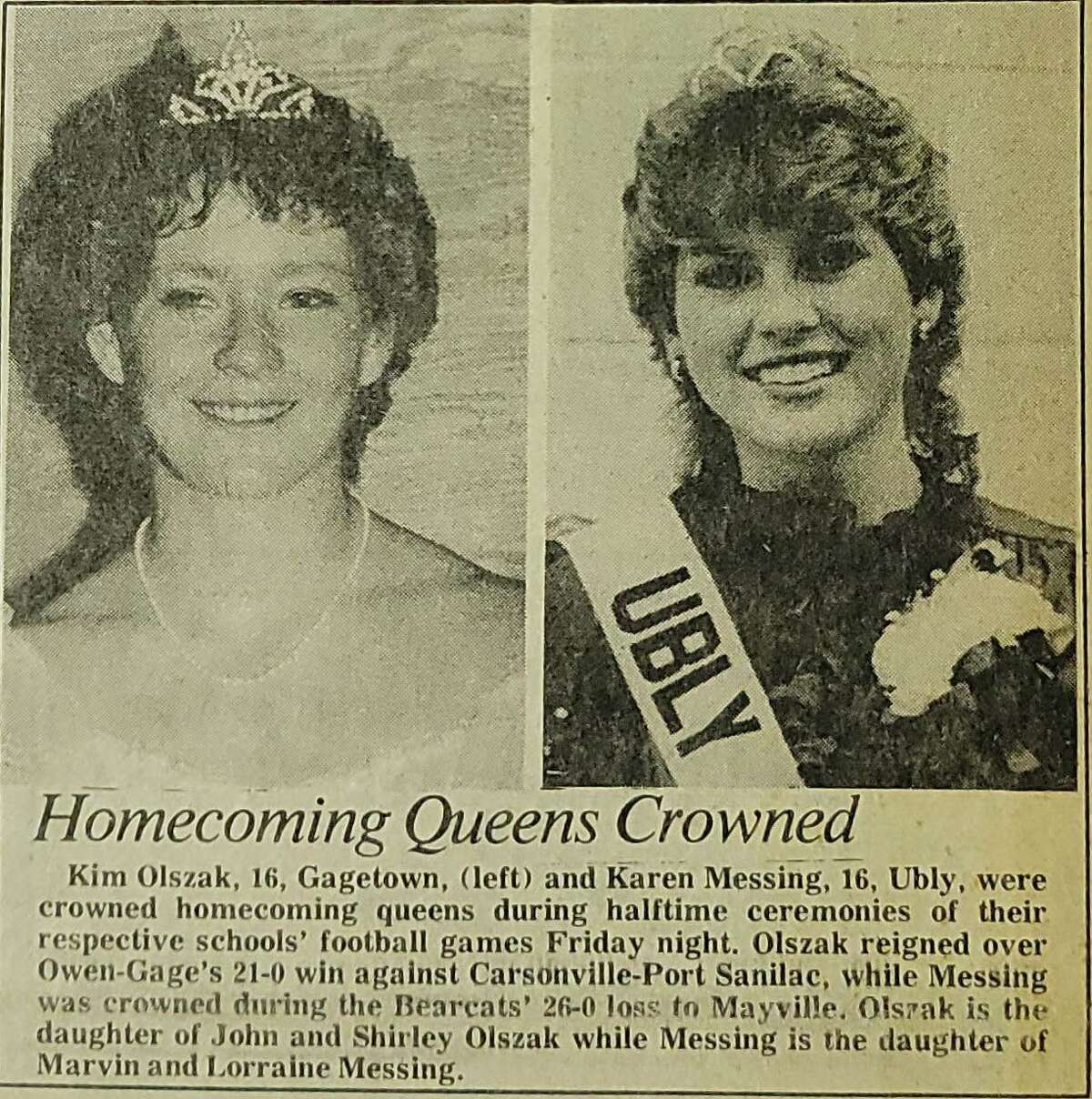 For this week's Tribune Throwback we take a look in the archives from the month of October 1984.