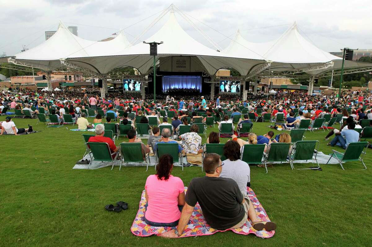 More than 11,000 visitors enjoyed patriotic music from the Houston Symphony during the Star Spangled Salute at The Cynthia Woods Mitchell Pavilion Friday.