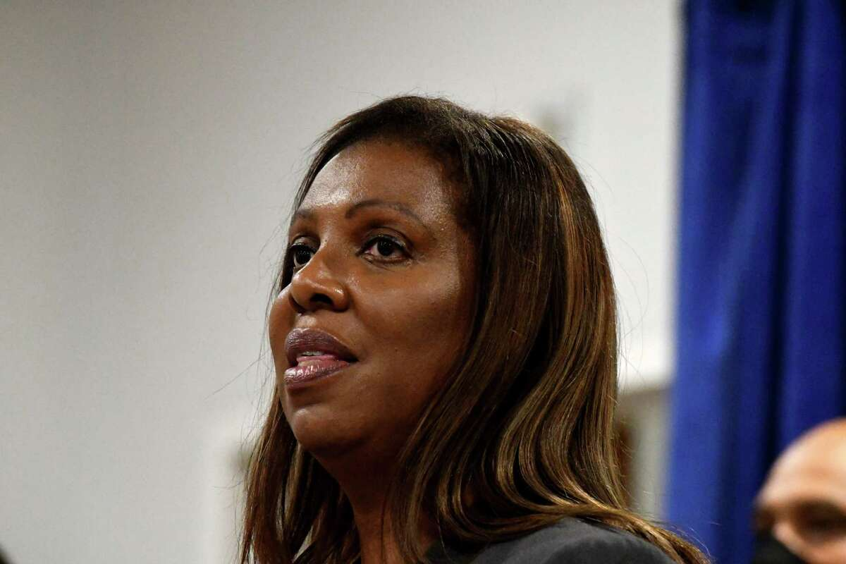 New York State Attorney General Tish James announces that Albany County will receive up to $4 million from settlements the state has reached with drug manufacturers and distributors accused of fueling the opioid crisis on Tuesday, Oct. 5, 2021, during a press conference at Albany Medical Center in Albany, N.Y.