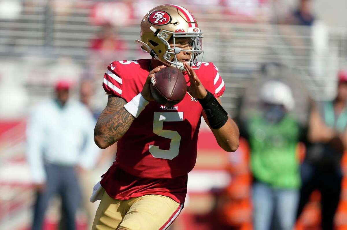 San Francisco 49ers quarterback Trey Lance got his first extended NFL action Sunday after he played the final two quarters in relief of the injured Jimmy Garoppolo.