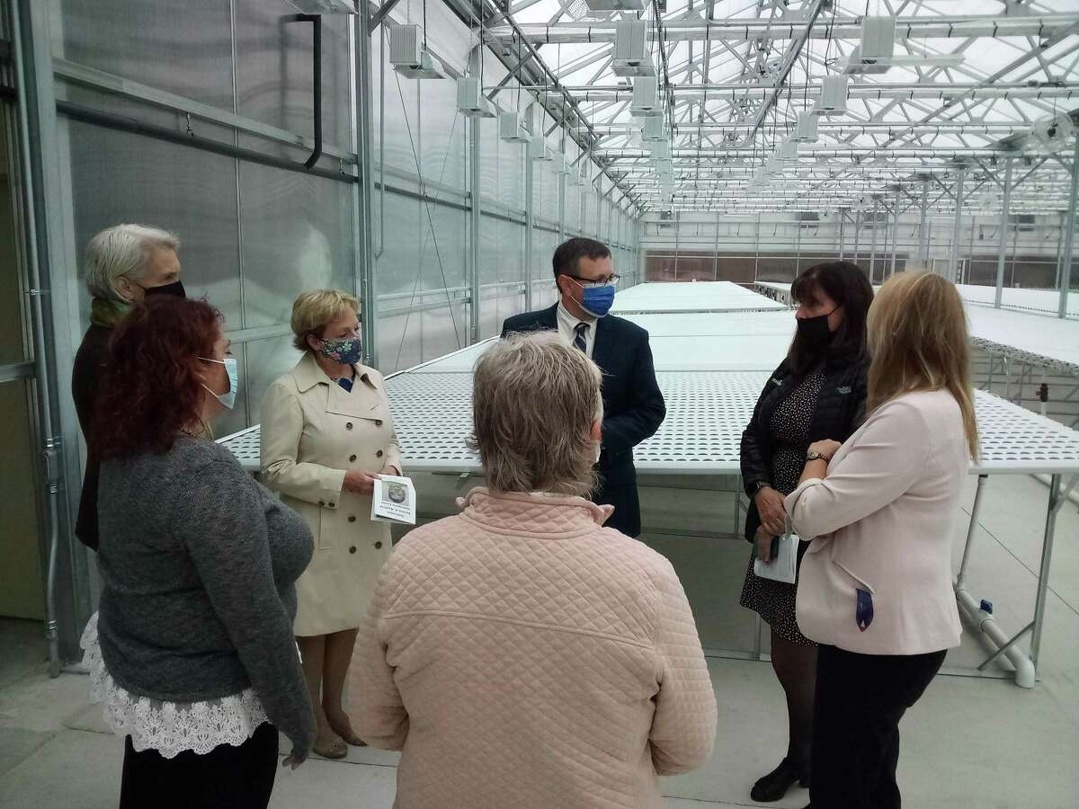 New Opportunities unveiled the Patricia .H. Mayfield Hydroponic Center, named after the agency's late board chairman and one of its biggest supporters, Tuesday. The center is at Technology Park Drive and will provide fresh food and employment in Torrington.