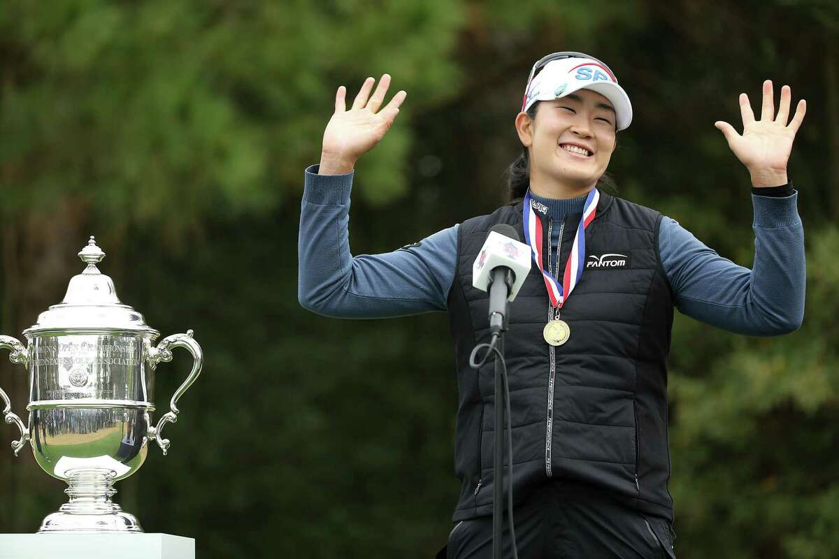 A Lim Kim of South Korea won the 75th U.S. Women's Open at Champions Golf Club in Houston on Monday, Dec. 14, 2020.