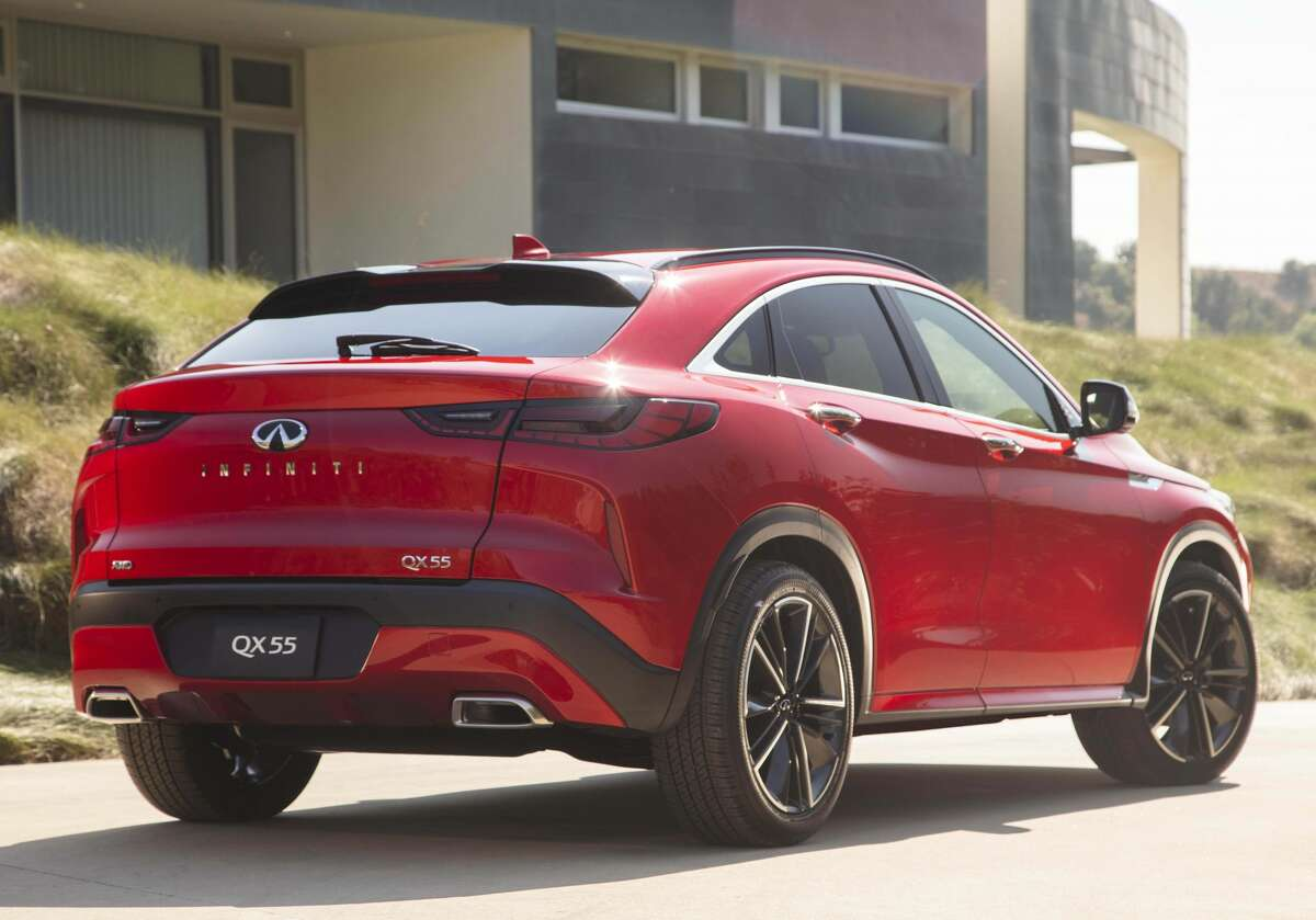 The 2022 Infiniti QX55 crossover utility vehicle.